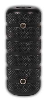 Ergal Griffstück Schwarz L.Paolini 20mm
