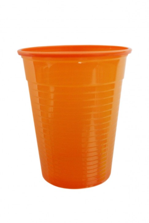 Plastikbecher 0.18 L orange