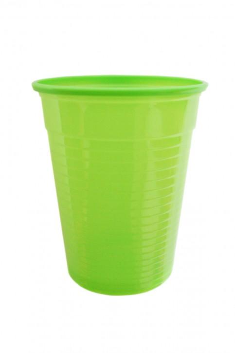 Plastikbecher 0.18 L neongrün