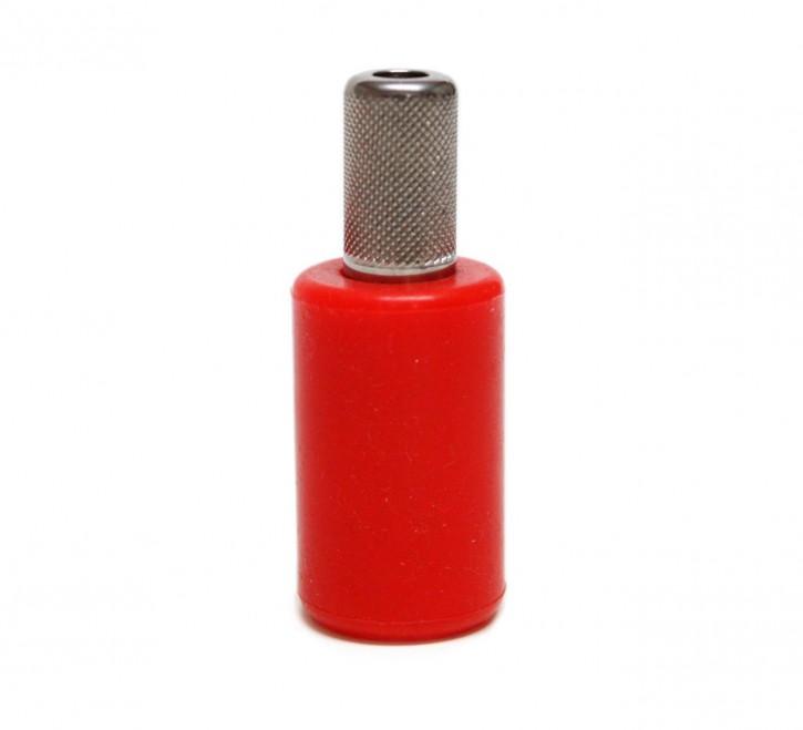 Silikon Griff Inox inkl.Überzug L.Paolini rot
