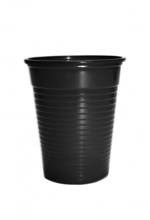 Plastikbecher 0.18 L schwarz
