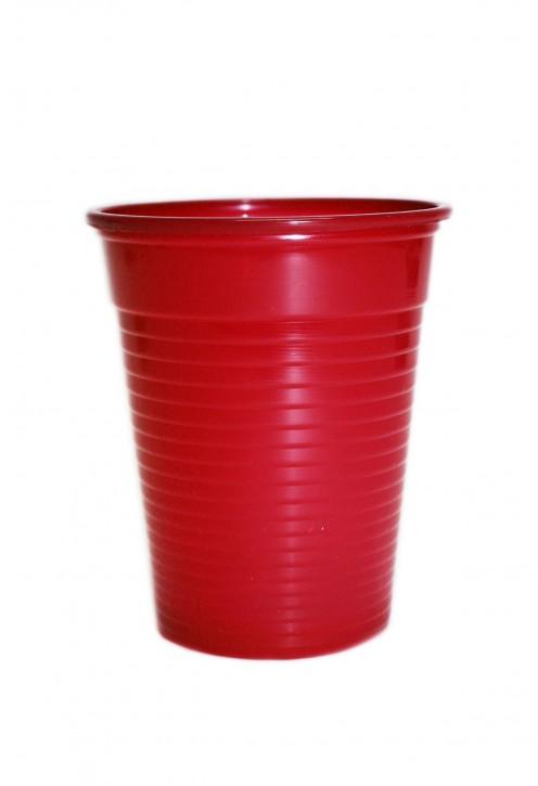 Plastikbecher 0.18 L rot