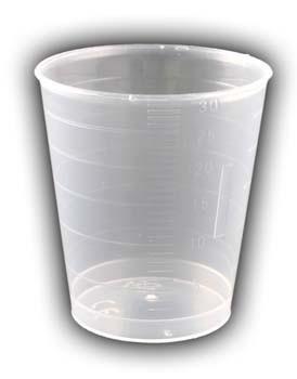 Plastikbecher graduiert 30ml