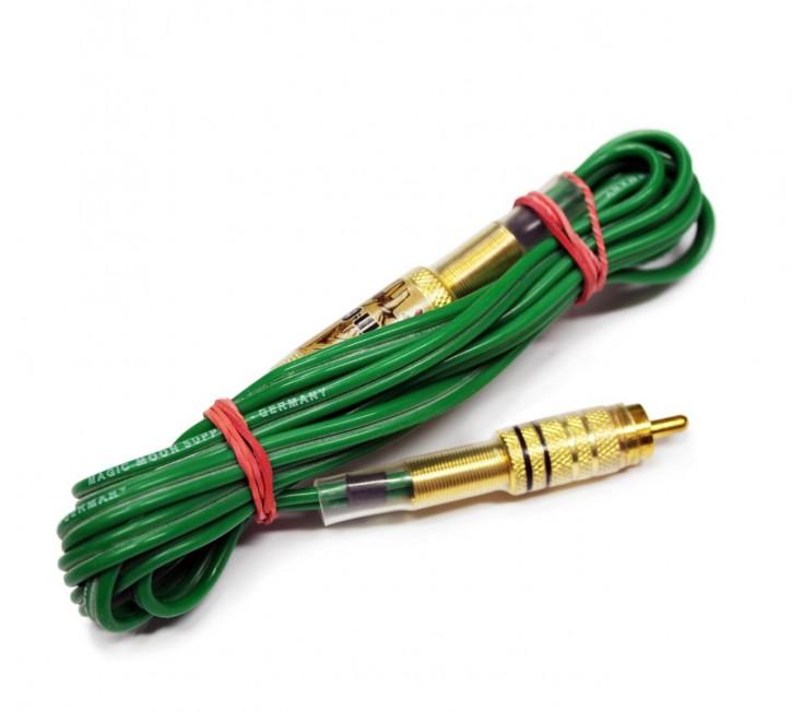 RCA/Chinch Cord Klinke - Silikonkabel Gruen