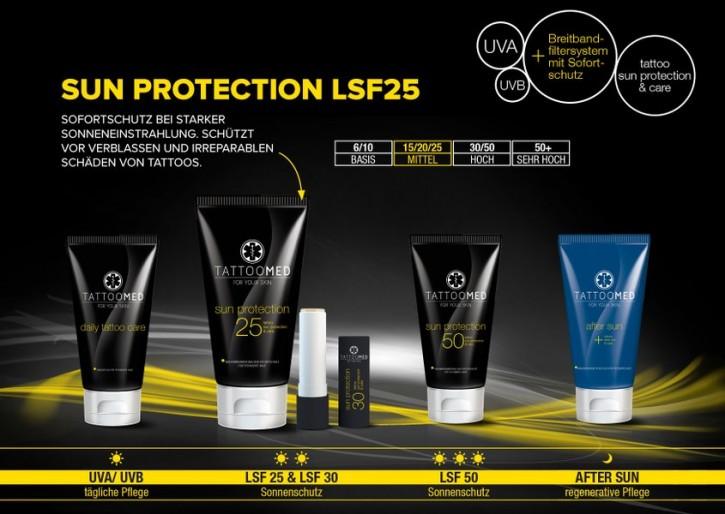 TATTOOMED Sun Protection LSF 25 vegan 15x100ml Display