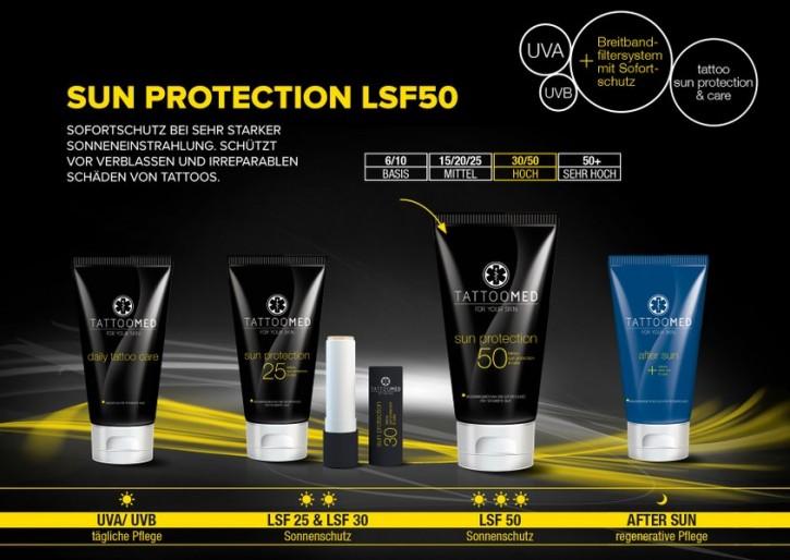 TATTOOMED Sun Protection LSF 50 vegan 15x100ml Display