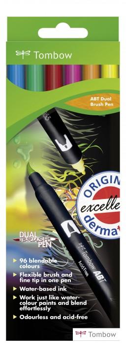 Pinselstifte Tombow Dual 6-Farben-Set