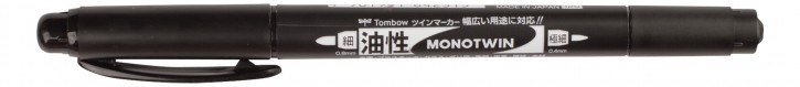 Tombow Monotwin Permanent Marker schwarz