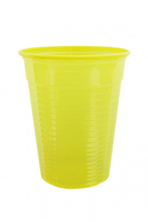 Plastikbecher 0.18 L gelb