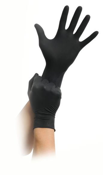 Maimed Black Latex Schwarz Puderfrei 100 Stück, Größe S
