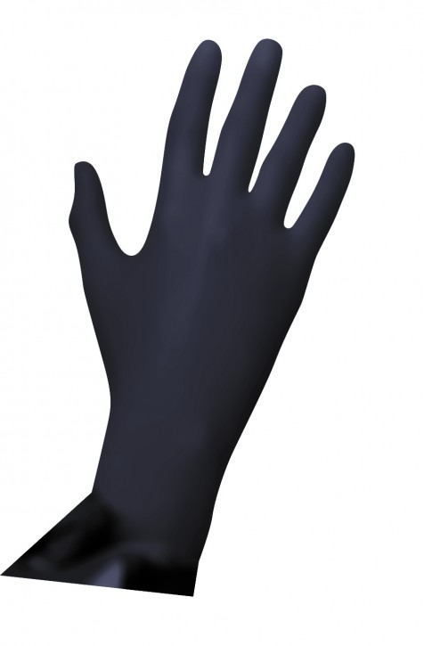 Unigloves Black Pearl Nitril Puderfrei, 100 Stueck Gr.M