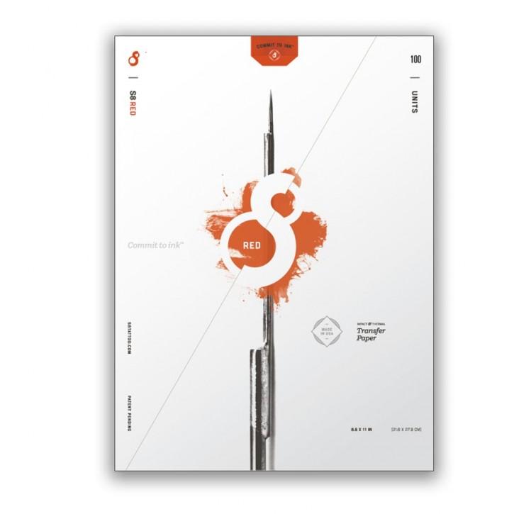 Matritzenpapier S8 100 Blatt Rot Universell