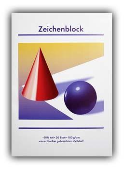 Zeichenblock 20 Blatt A4