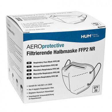 AEROprotective filtrierende Halbmasken FFP2 NR, ohne Ventil (20 Stck.)