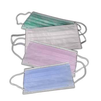 Mundschutz Vlies farbig, 50 Stück